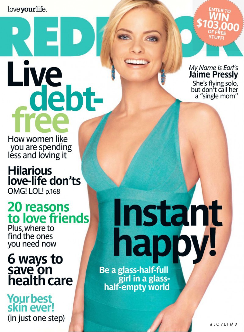 Jaime Pressly featured on the Redbook cover from April 2009