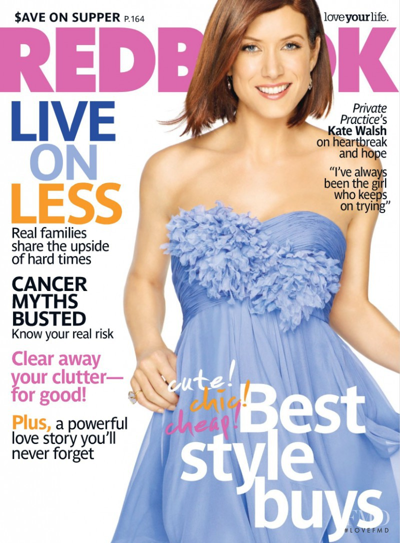 Kate Walsh featured on the Redbook cover from March 2009