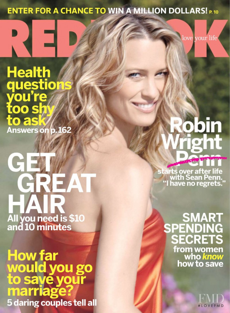 Robin Wright Penn featured on the Redbook cover from November 2009