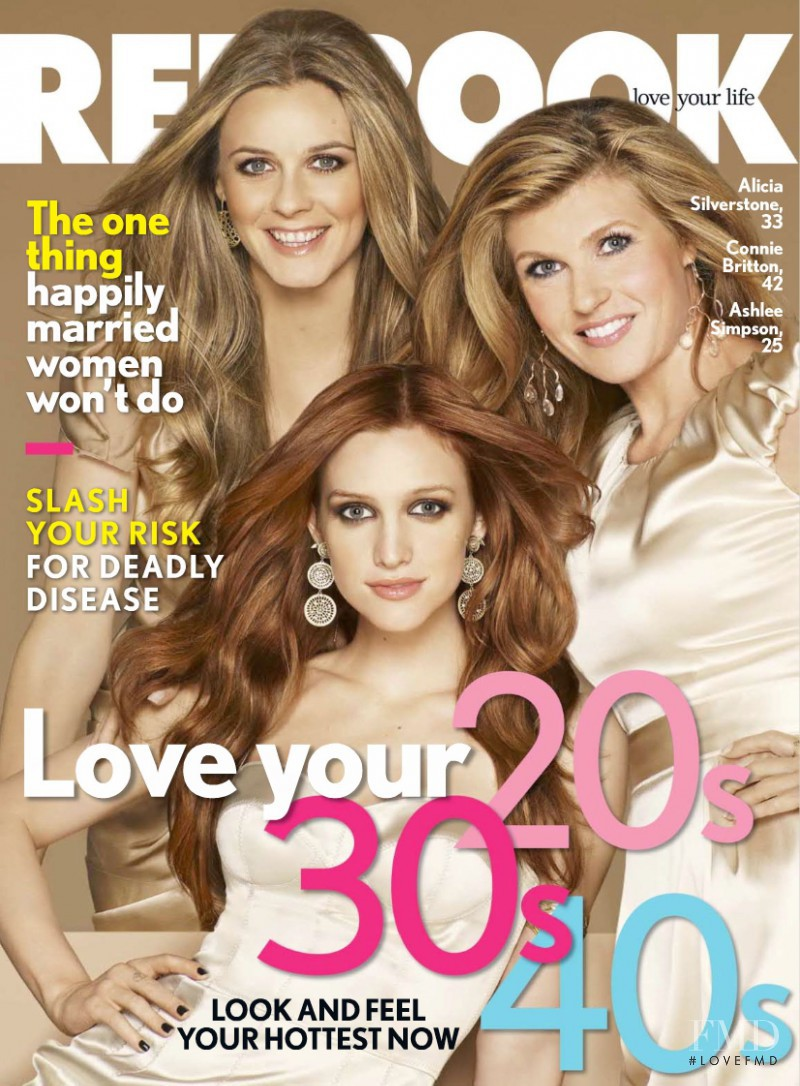 Alicia Silverstone, Connie Britton, Ashlee Simpson featured on the Redbook cover from October 2009