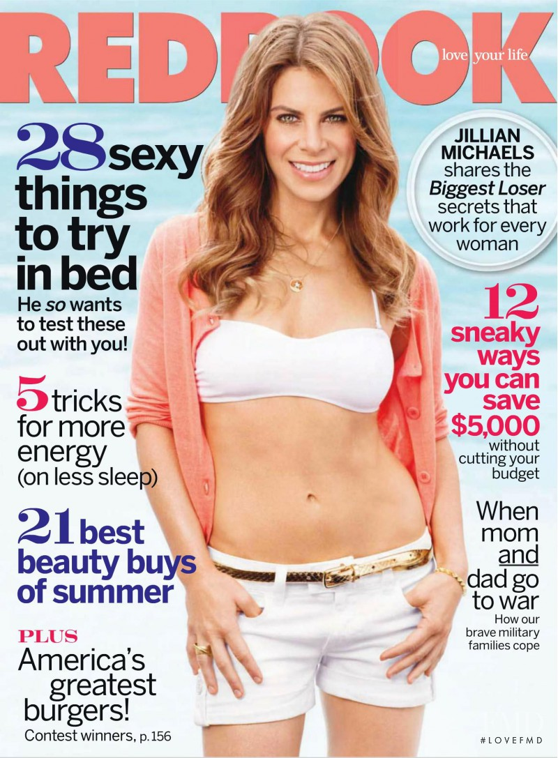 Jillian Michaels featured on the Redbook cover from July 2010