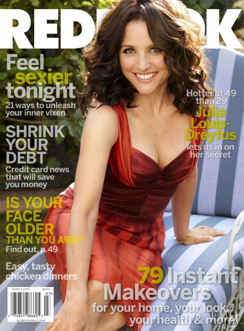 Julia Louis Dreyfus featured on the Redbook cover from March 2010