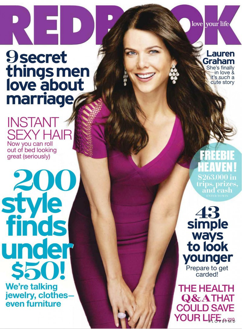 Lauren Graham featured on the Redbook cover from October 2010