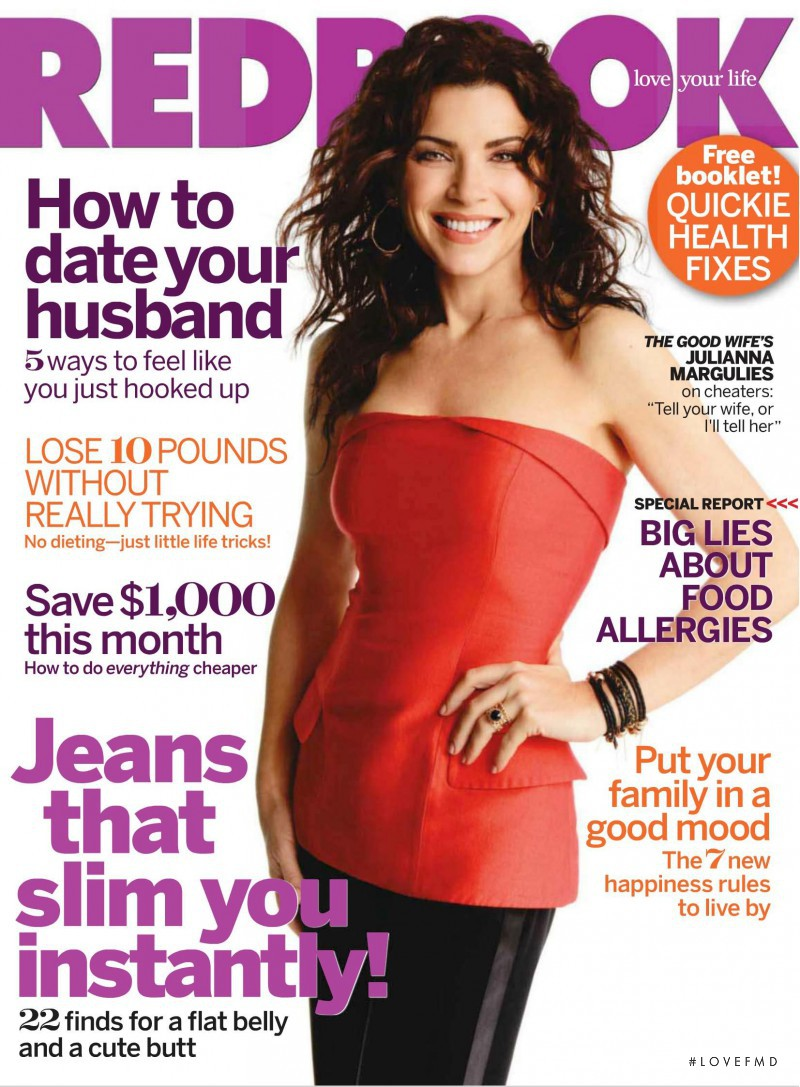 Julianna Margulies featured on the Redbook cover from September 2010