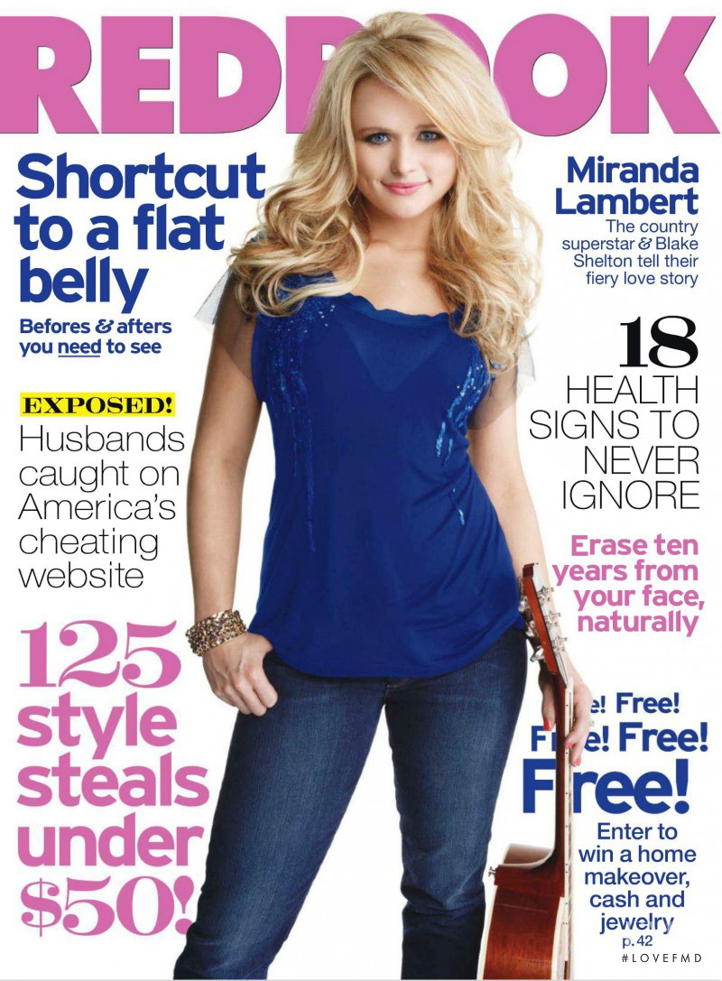 Miranda Lambert featured on the Redbook cover from April 2011
