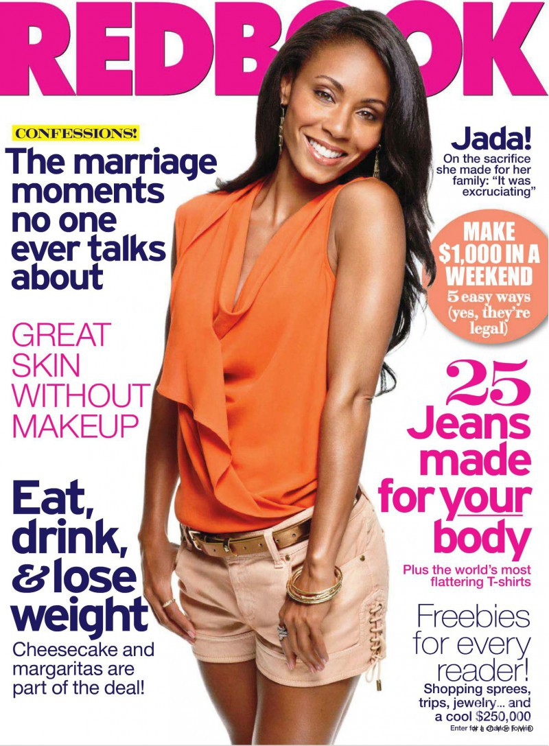 Jade Smith featured on the Redbook cover from August 2011