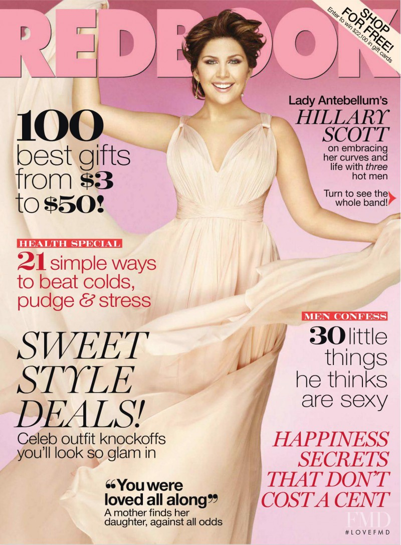 Hillary Scott featured on the Redbook cover from December 2011