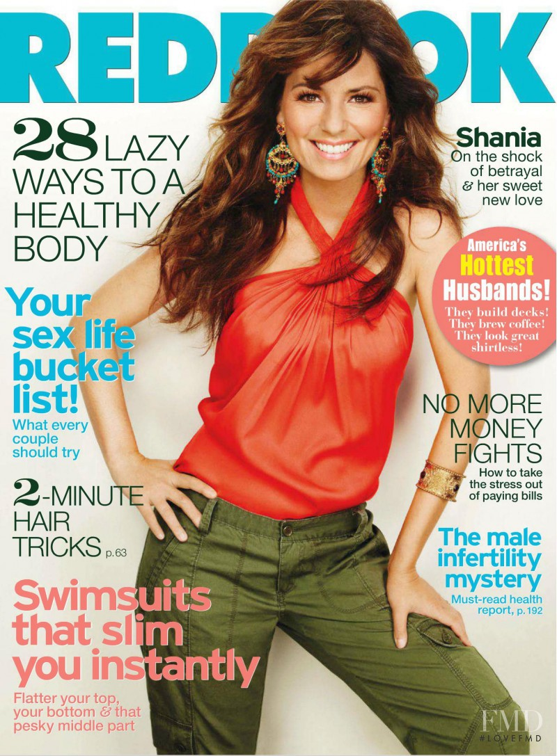 Shania Twain featured on the Redbook cover from June 2011