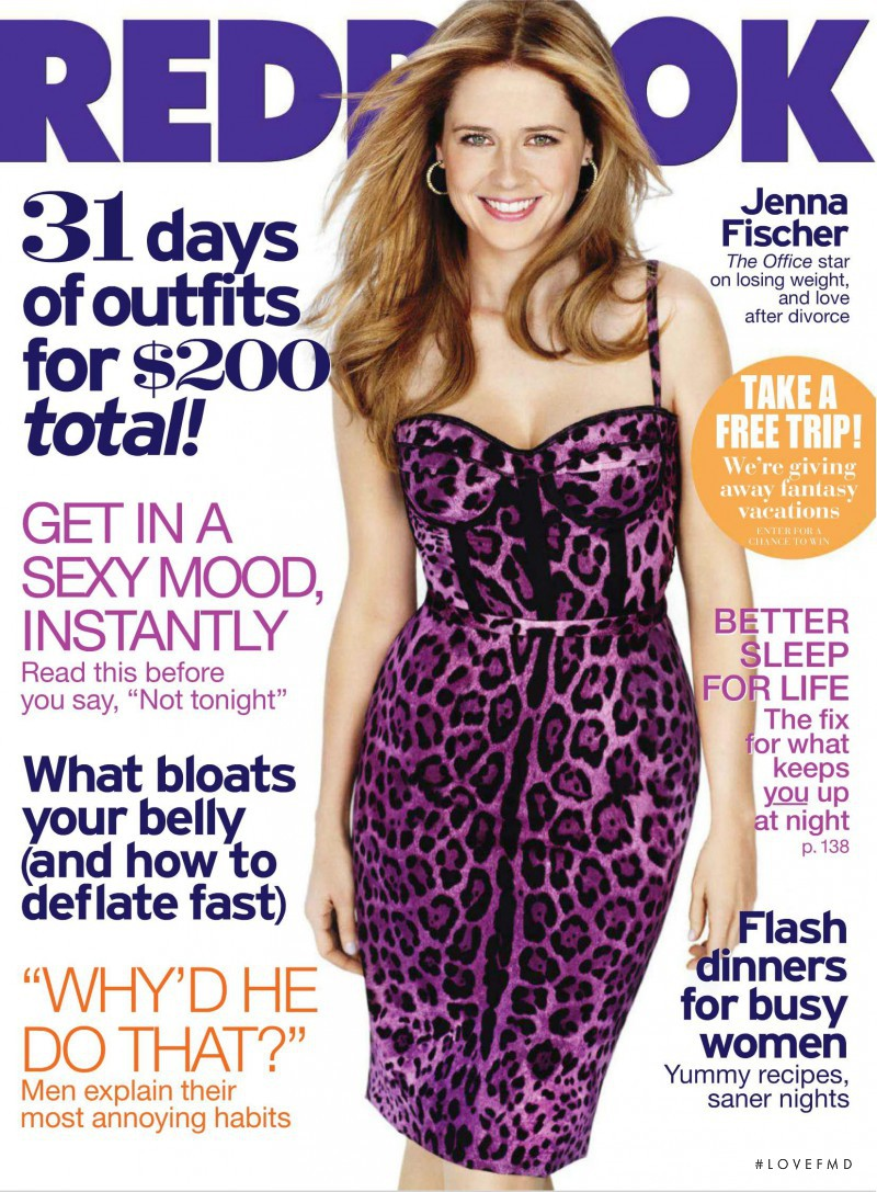 Jenna Fischer featured on the Redbook cover from March 2011