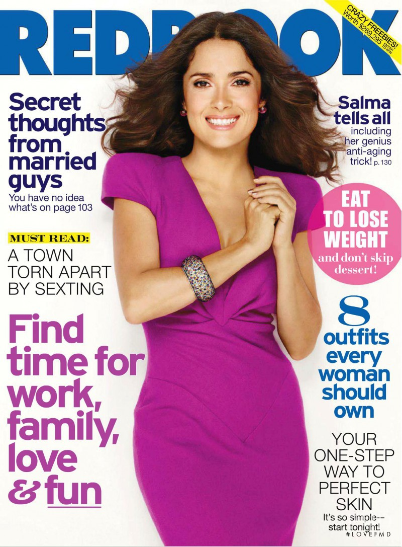 Salma Hayek featured on the Redbook cover from November 2011