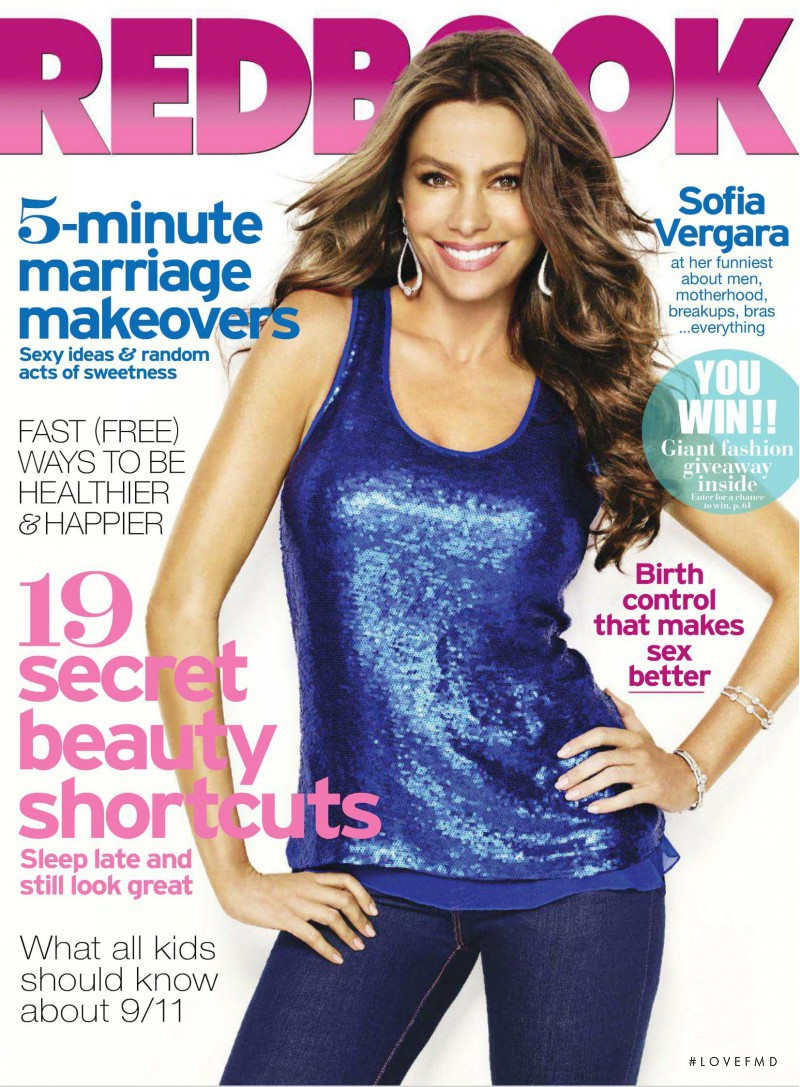 Sofia Vergara featured on the Redbook cover from September 2011