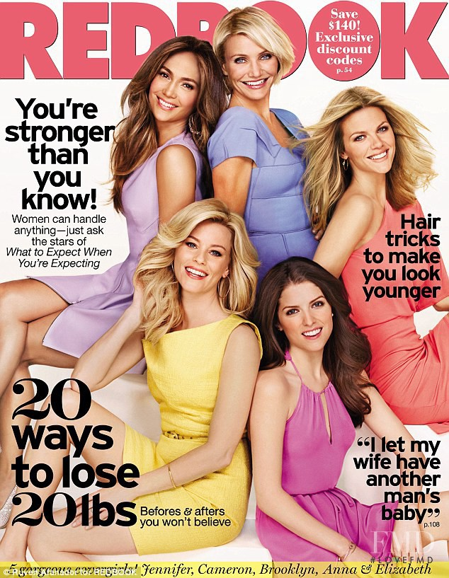 Jennifer Lopez, Cameron Diaz, Elizabeth Banks, Anna Kendrick featured on the Redbook cover from June 2012
