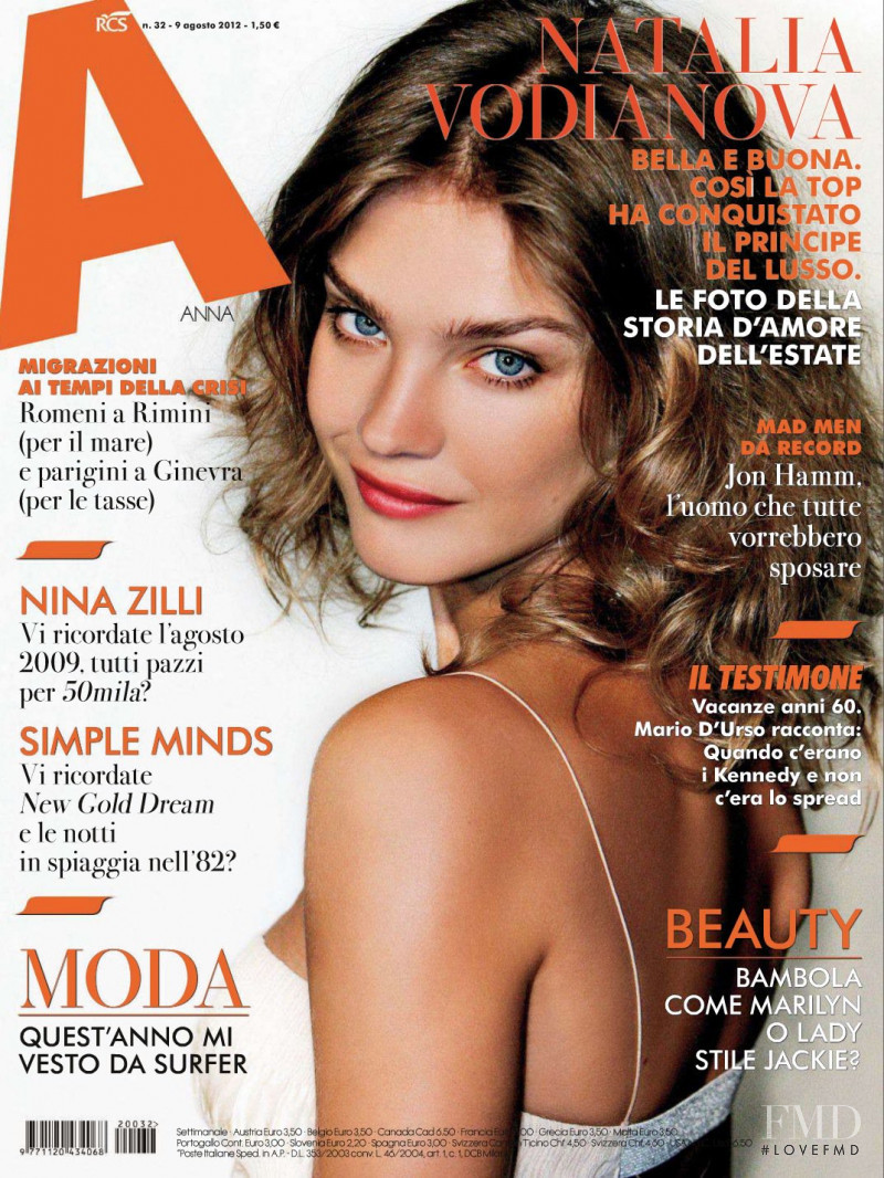 Natalia Vodianova featured on the ANNA cover from August 2012
