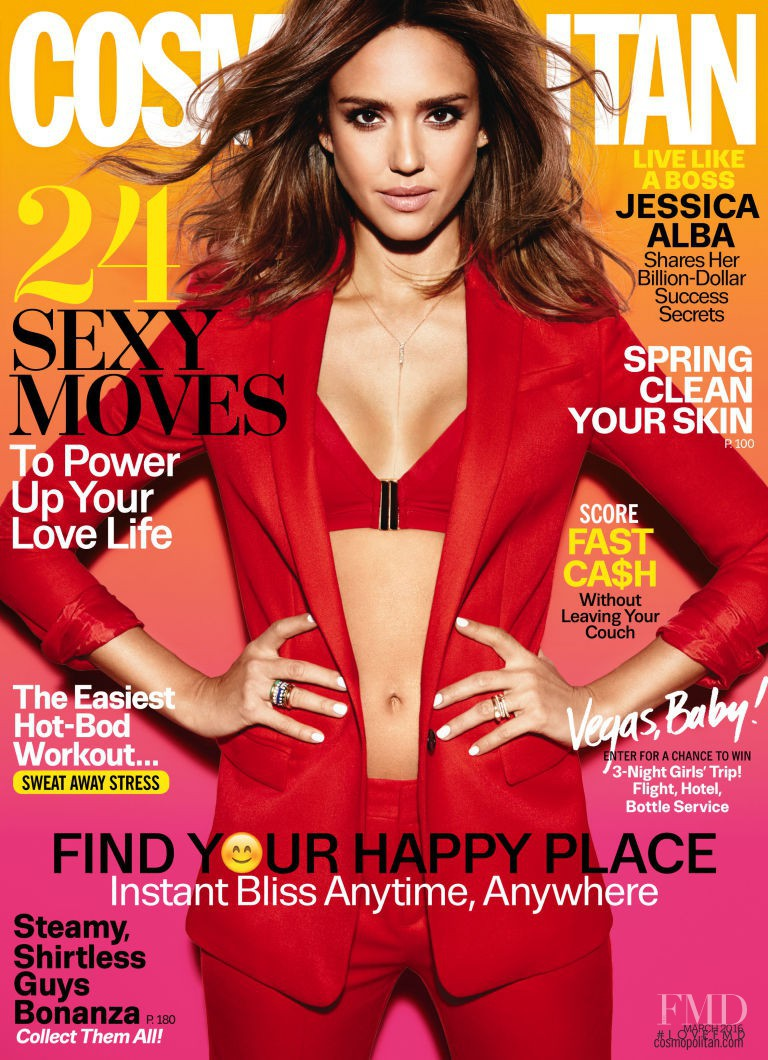 Jessica Alba featured on the Cosmopolitan USA cover from March 2016