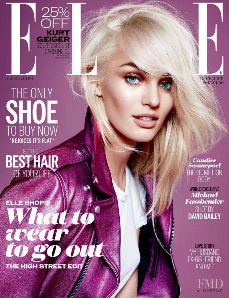 Candice Swanepoel featured on the Elle UK cover from December 2013