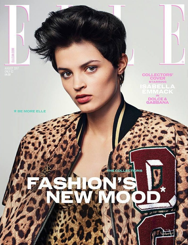 Isabella Emmack featured on the Elle UK cover from August 2017