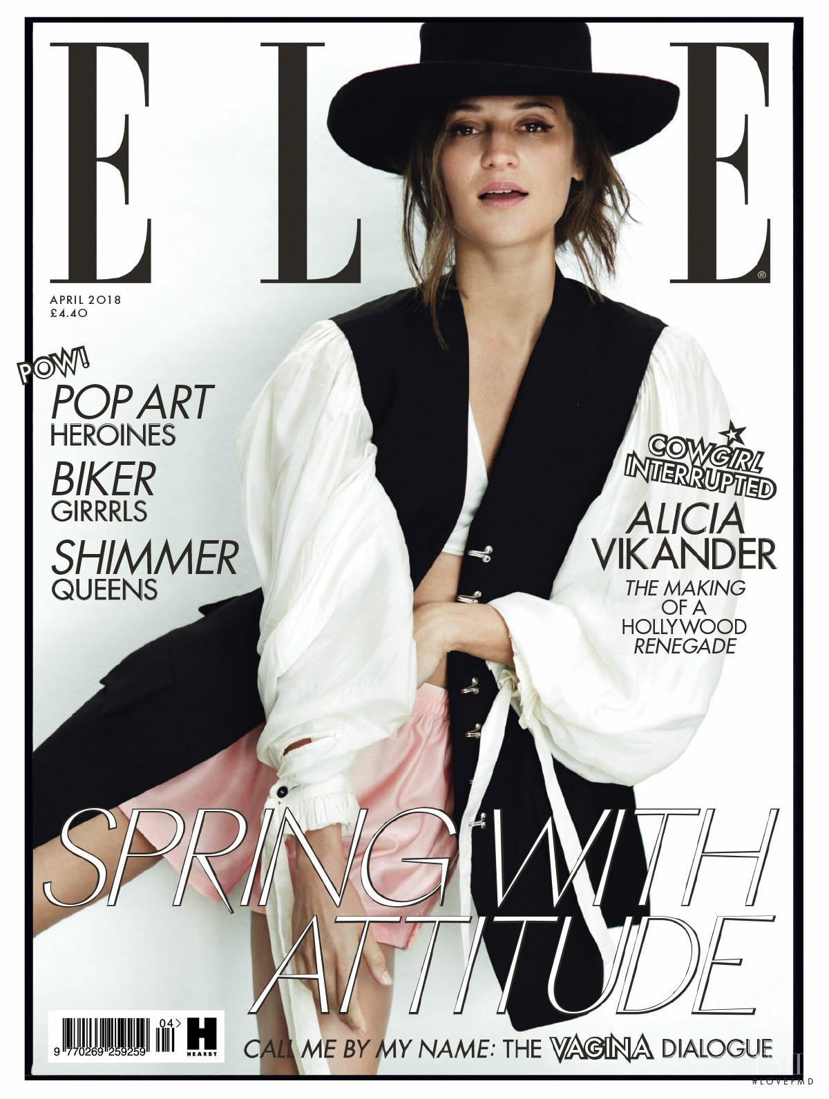 Алисия Викандер в фотосессии Elle UK (апрель 2018) - обложка