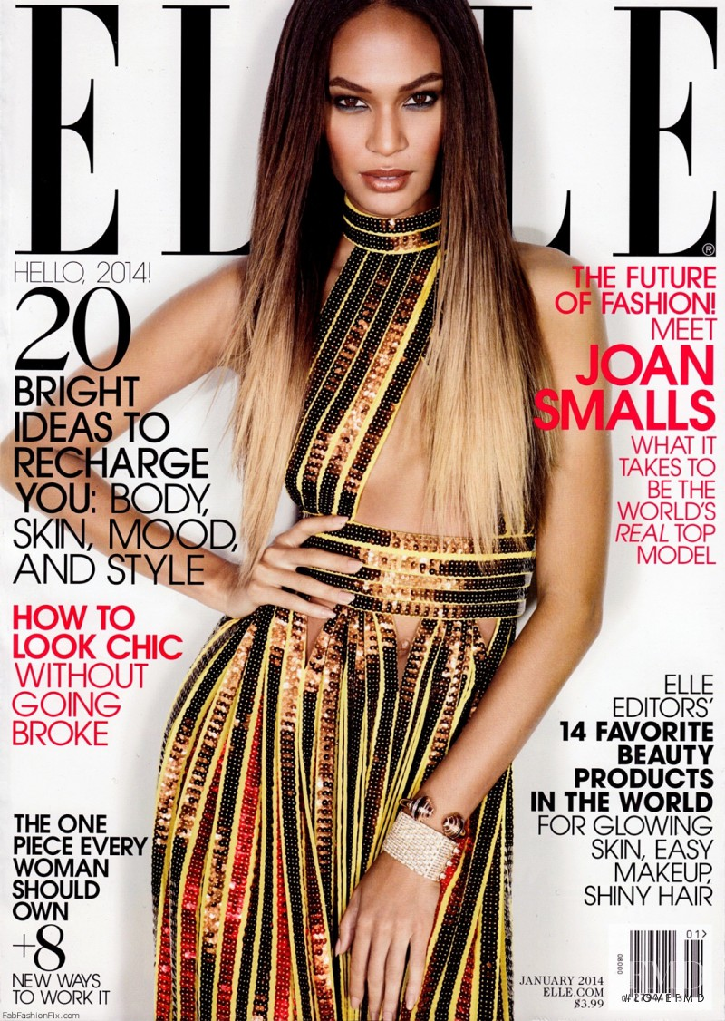 Joan Smalls featured on the Elle USA cover from January 2014