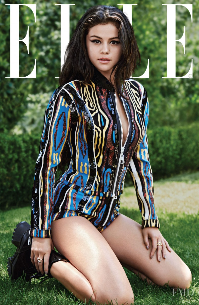 Selena Gomez featured on the Elle USA cover from October 2015