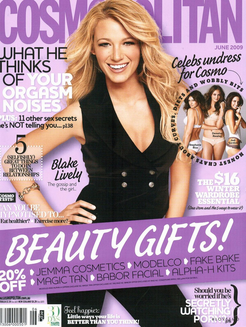 Cover of Cosmopolitan Australia with Blake Lively, June ...