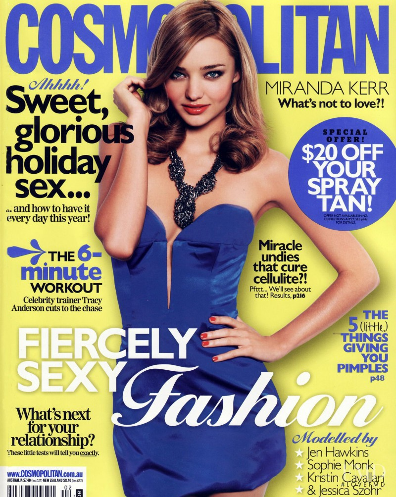 Miranda Kerr featured on the Cosmopolitan Australia cover from February 2010