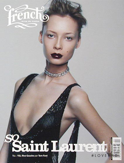 Tiiu Kuik featured on the French Revue De Modes cover from March 2004