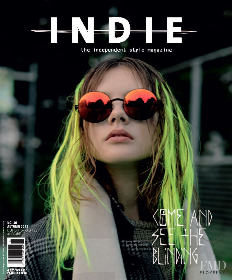 Kristina Krivomazova featured on the Indie cover from September 2012