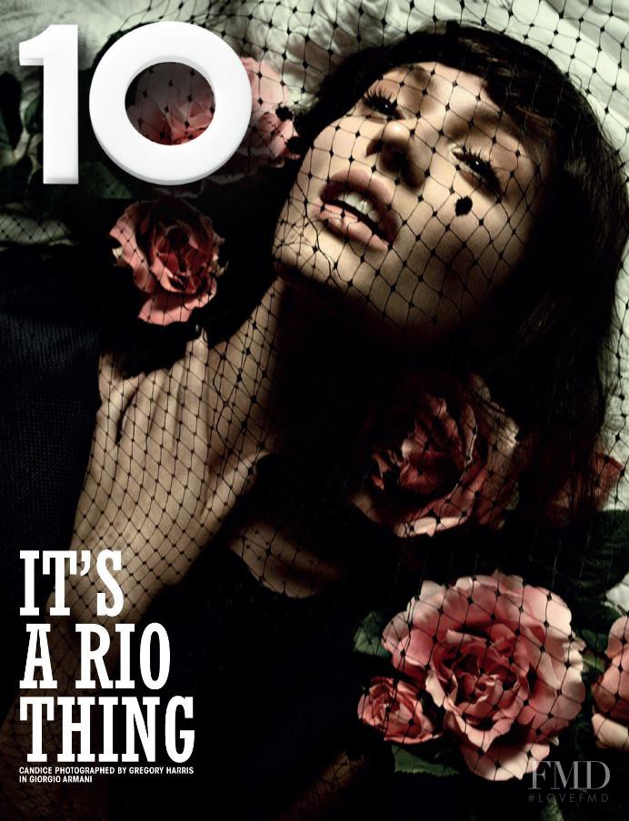 Candice Swanepoel featured on the 10 Magazine cover from December 2012