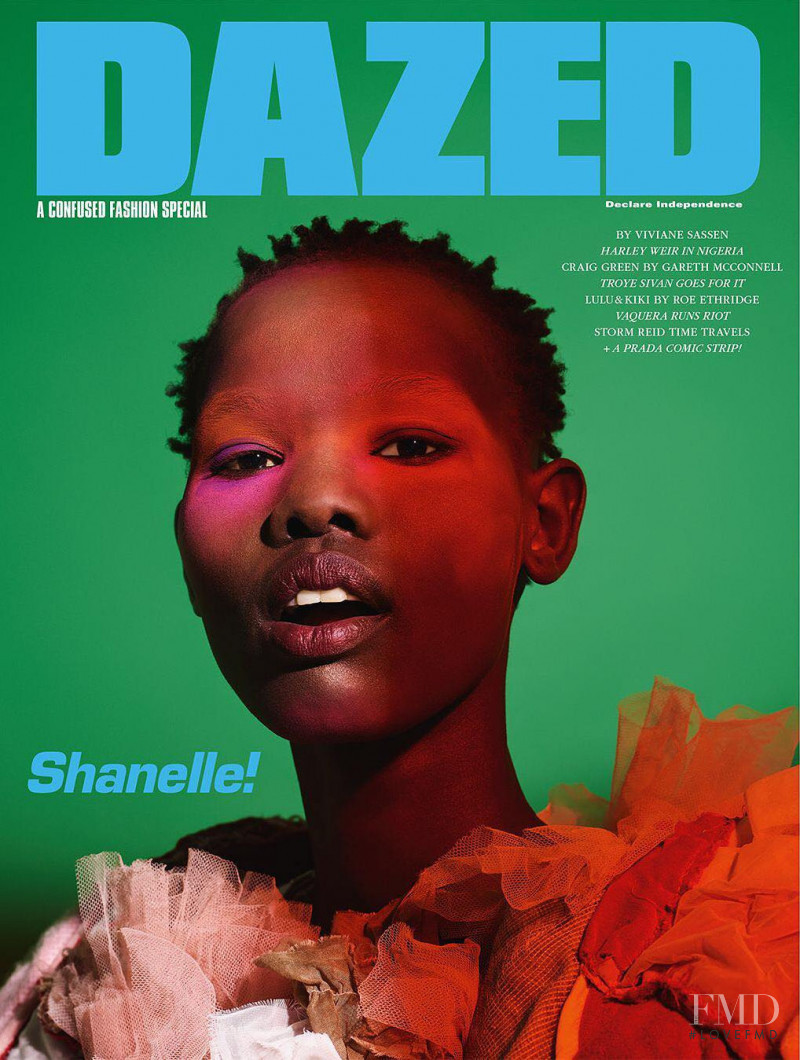 Shanelle Nyasiase  featured on the Dazed cover from February 2018