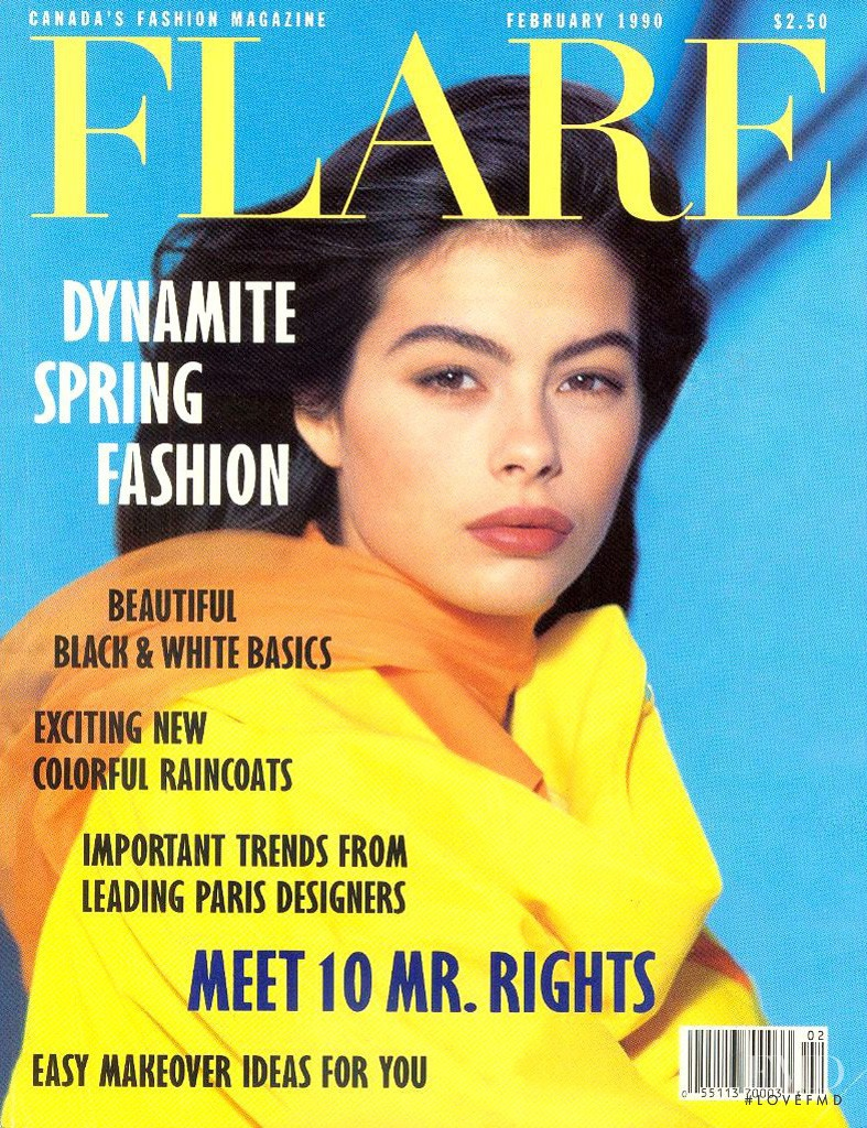 Audrey Benoit featured on the Flare Canada cover from February 1990