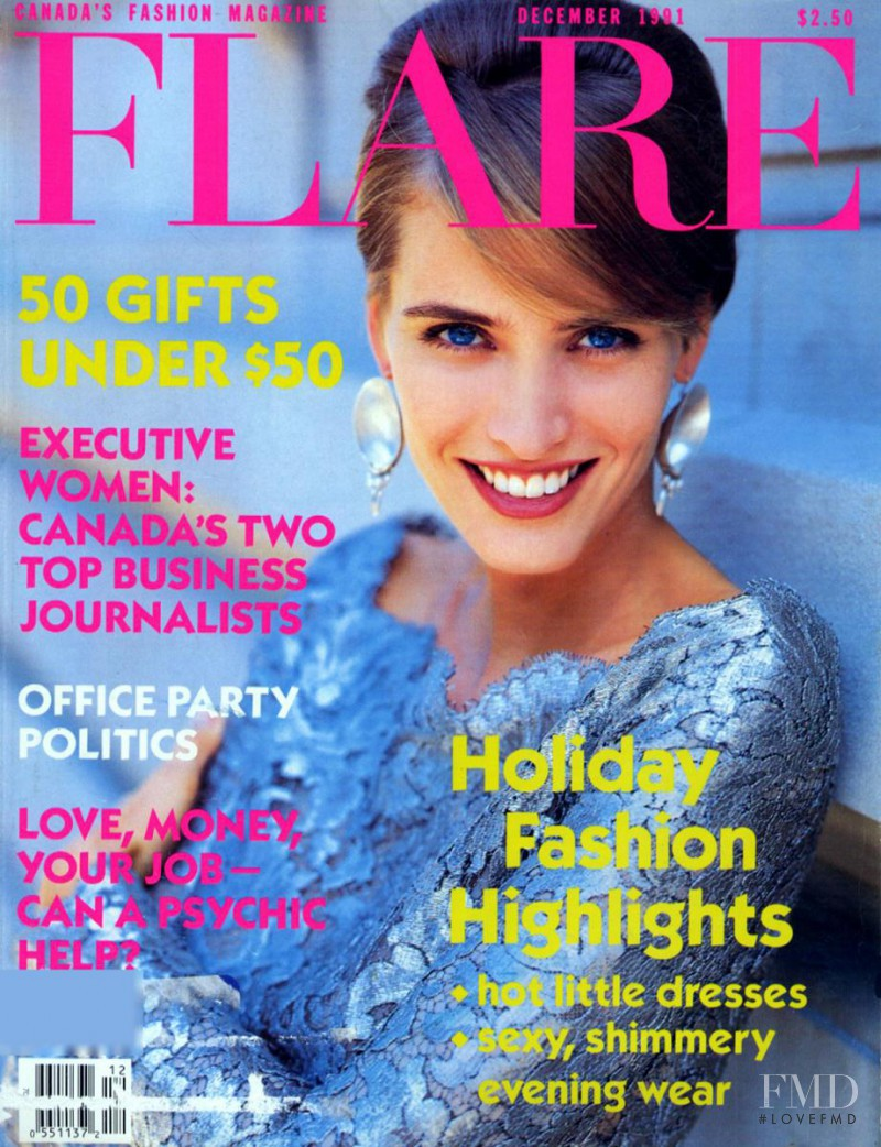 Cathy Fedoruk featured on the Flare Canada cover from December 1991