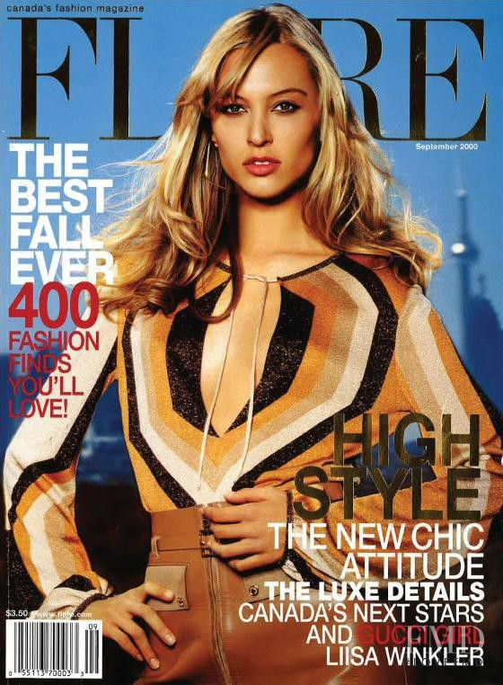 Liisa Winkler featured on the Flare Canada cover from September 2000