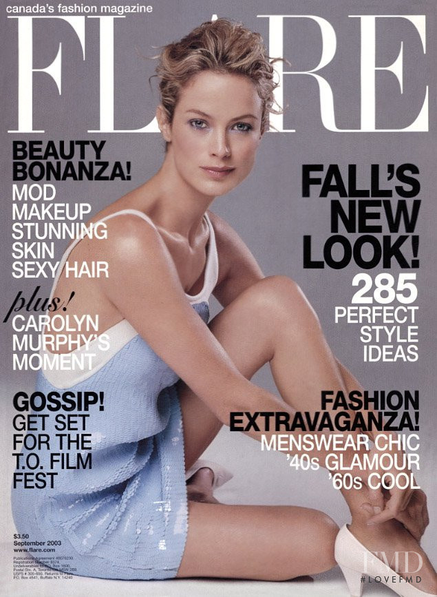 Carolyn Murphy featured on the Flare Canada cover from September 2003