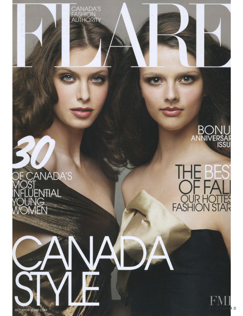 Pamela Bernier featured on the Flare Canada cover from October 2009