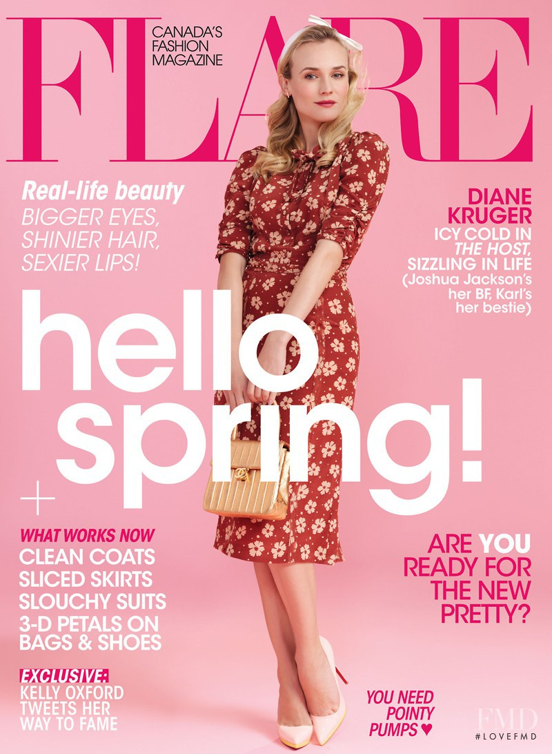 Diane Heidkruger featured on the Flare Canada cover from April 2013