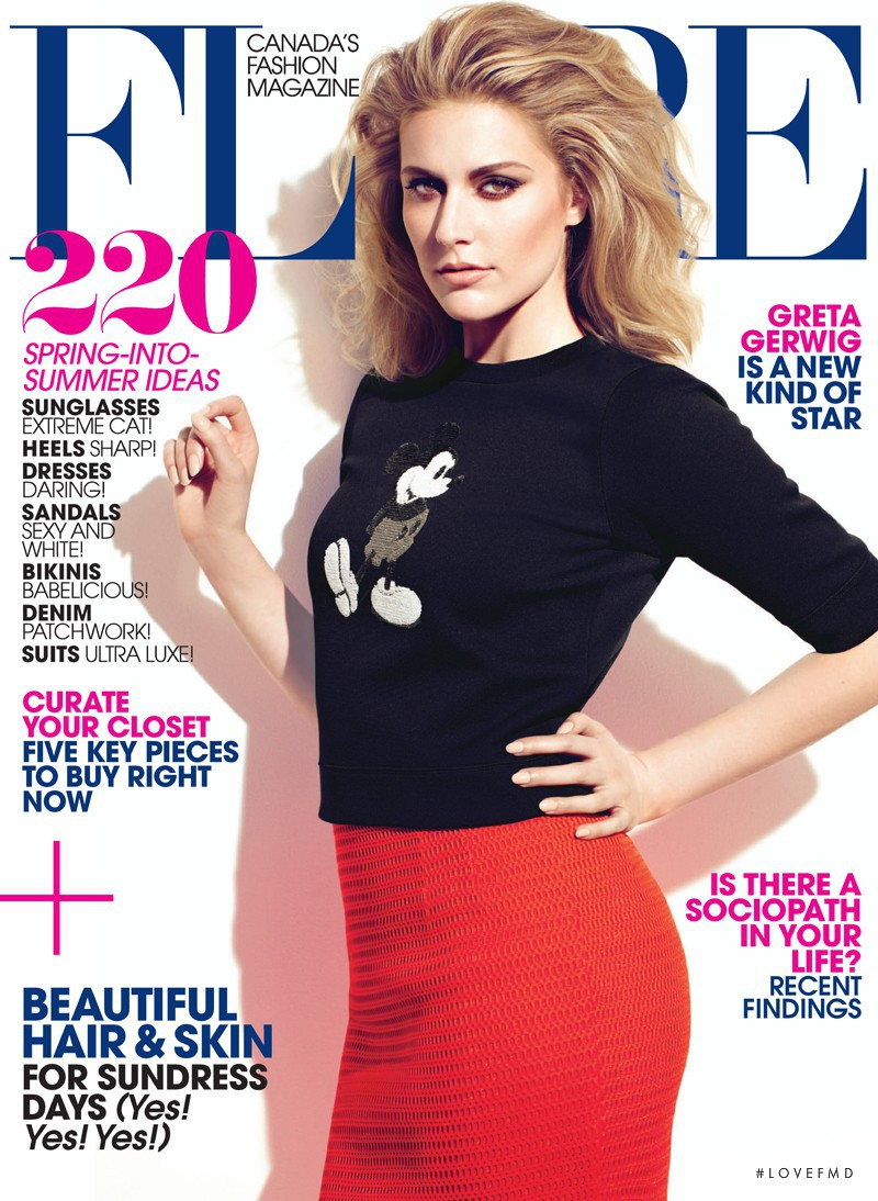Greta Gerwig featured on the Flare Canada cover from June 2013