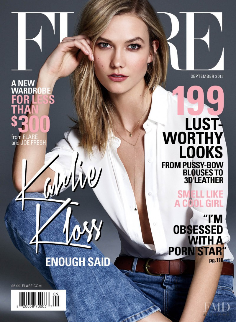 Karlie Kloss featured on the Flare Canada cover from September 2015
