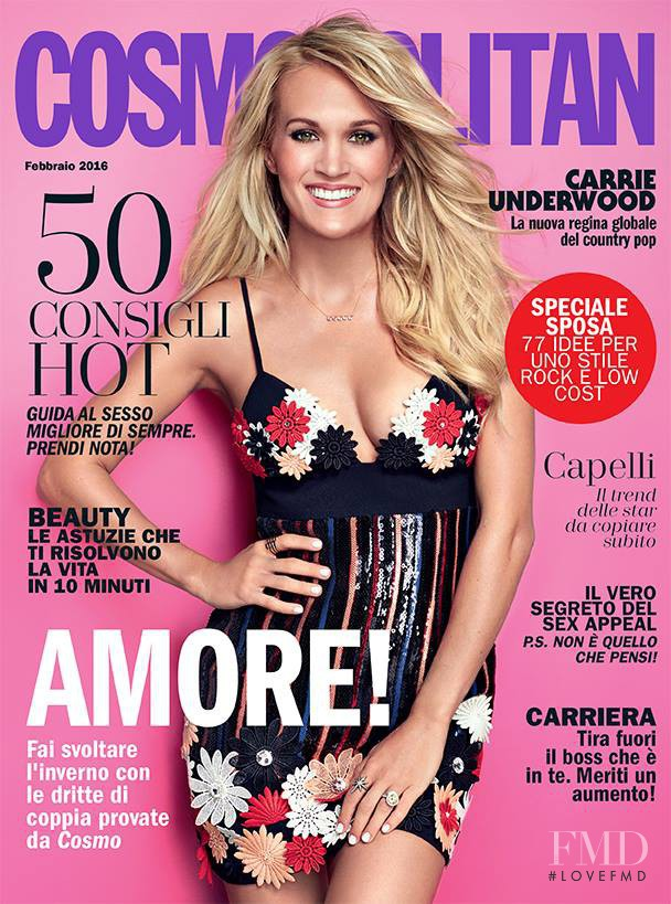 featured on the Cosmopolitan Italy cover from February 2016