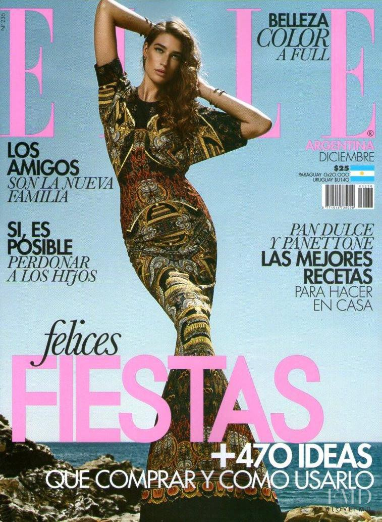 Natalia Vodianova featured on the Elle Argentina cover from December 2013