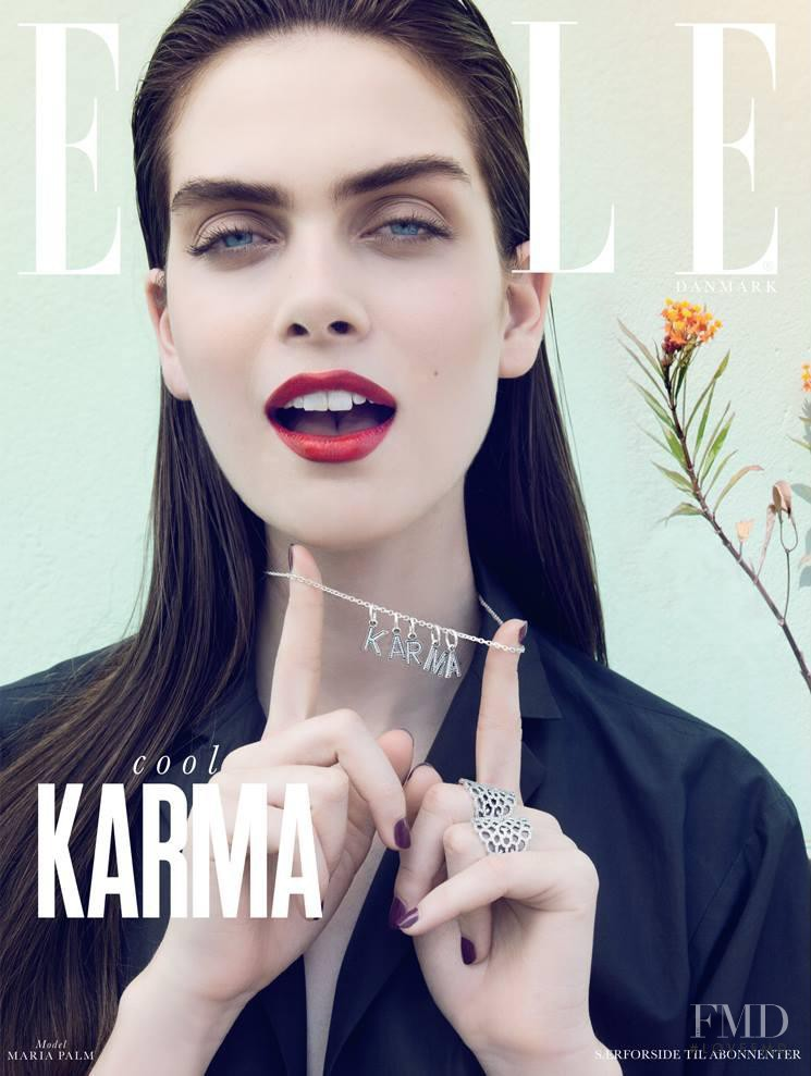 Maria Palm featured on the Elle Denmark cover from June 2014