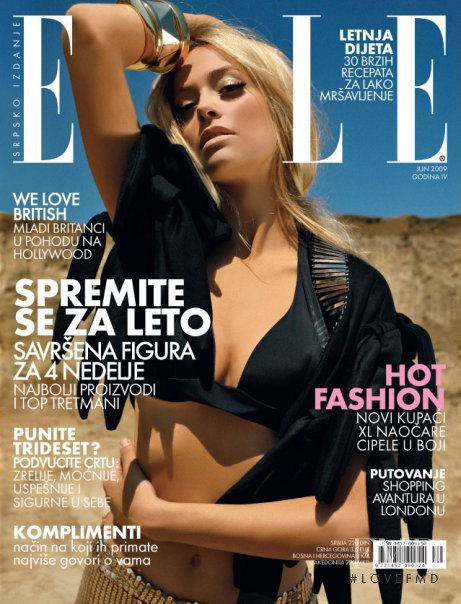 Nikica featured on the Elle Serbia cover from June 2009