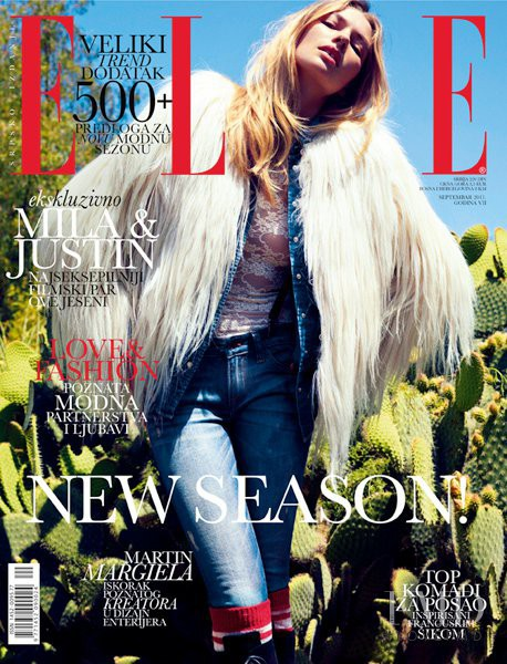 Jessica Hart featured on the Elle Serbia cover from September 2011