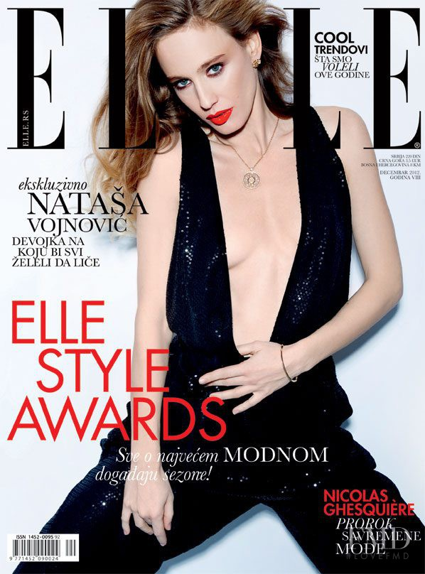 Natasa Vojnovic featured on the Elle Serbia cover from December 2012