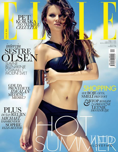 Bojana Miletić featured on the Elle Serbia cover from June 2012