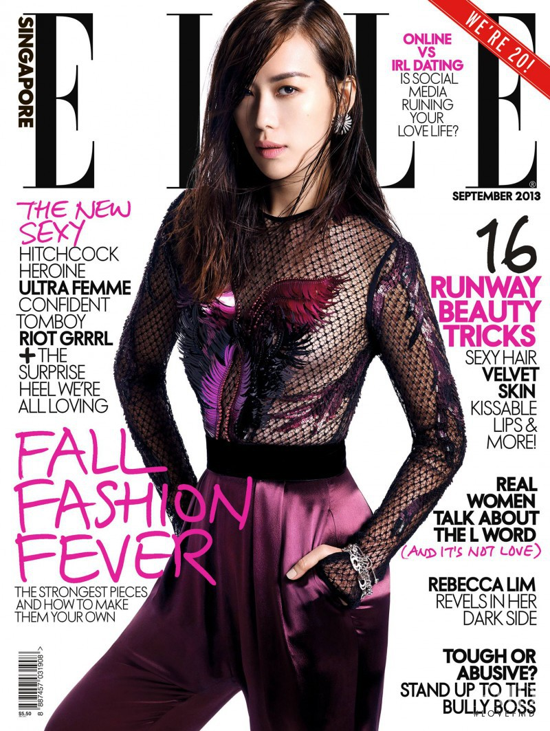 featured on the Elle Singapore cover from September 2013