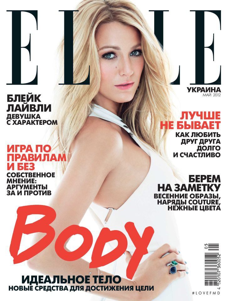 Cover of Elle Ukraine with Blake Lively, May 2012 (ID ...