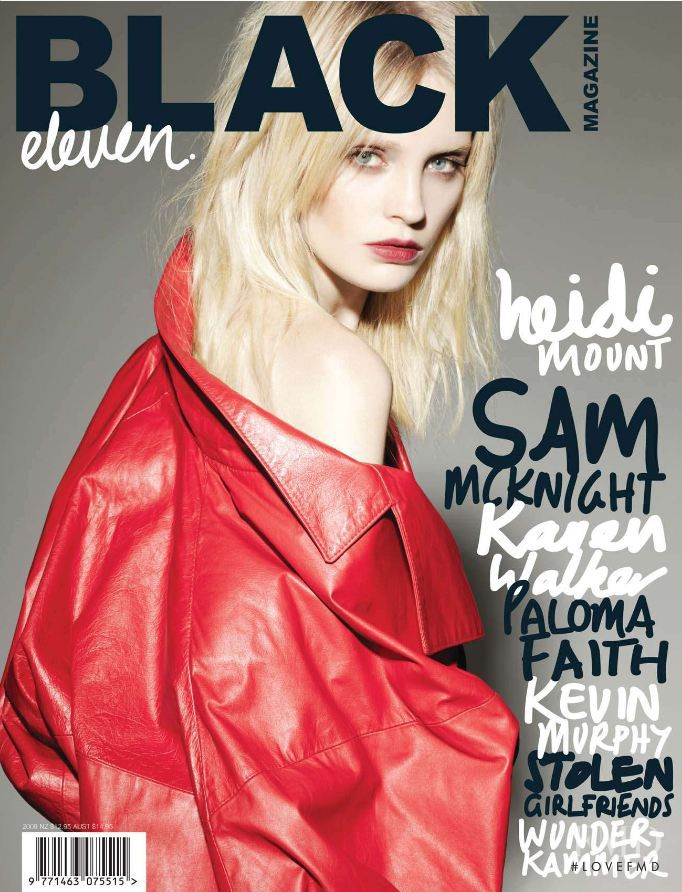 Heidi Mount featured on the Black Magazine cover from September 2009