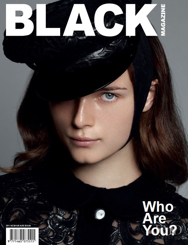 Anna de Rijk featured on the Black Magazine cover from December 2011
