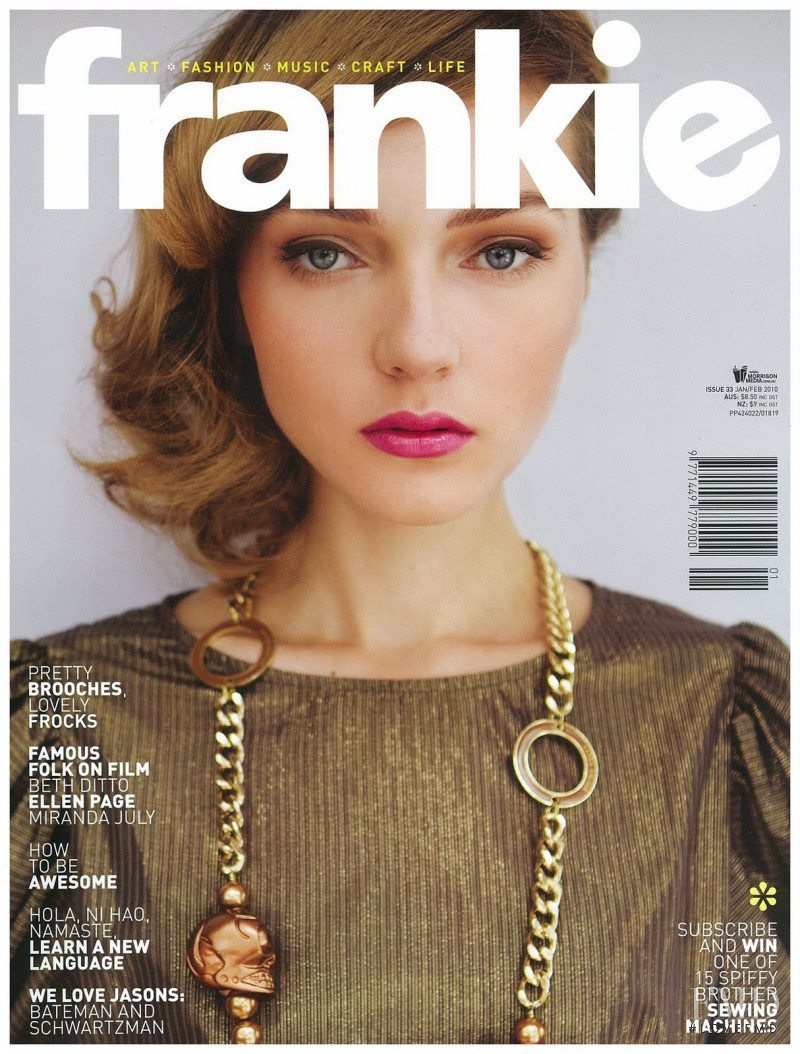 Raisa Anane featured on the Frankie magazine cover from January 2010