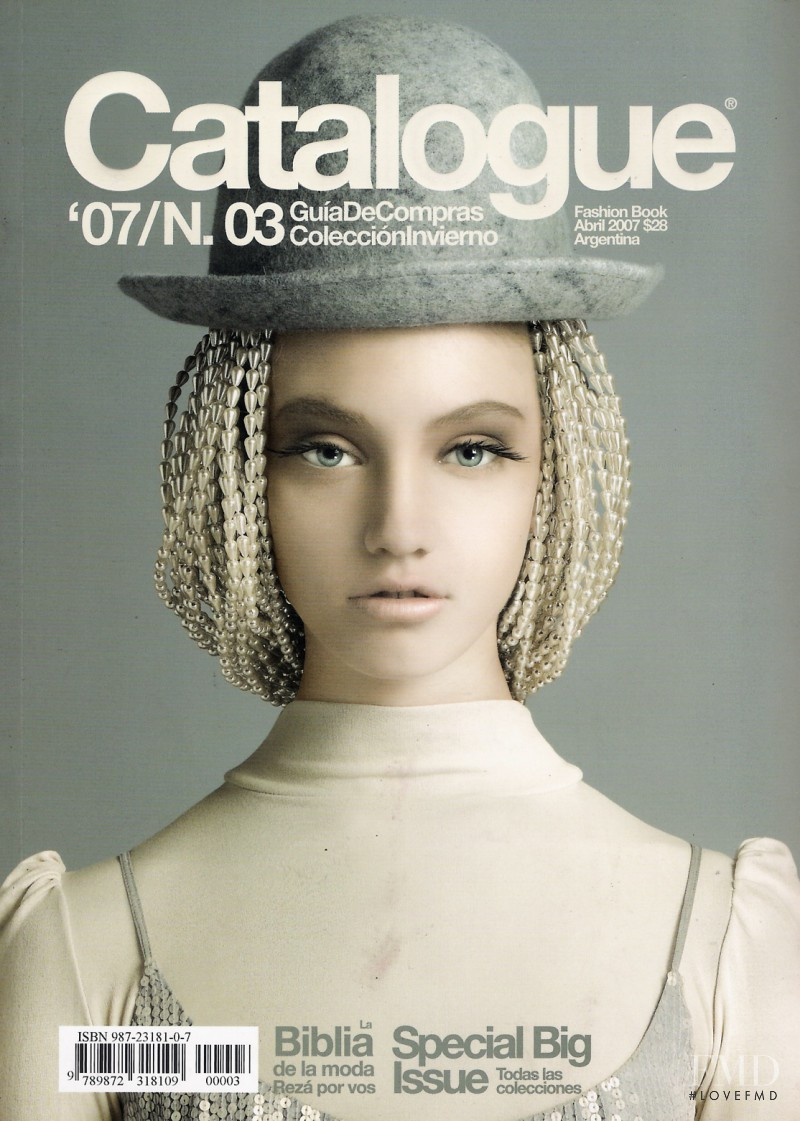 Isadora di Domenico featured on the Catalogue Argentina cover from April 2007